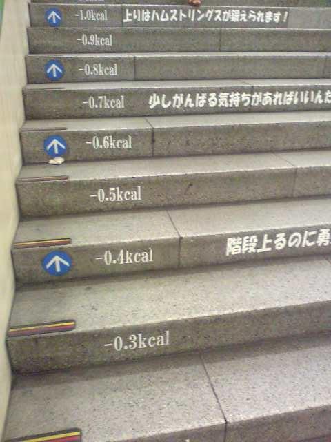 地下鉄の階段にて