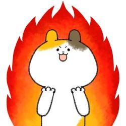 心に火が付いた猫